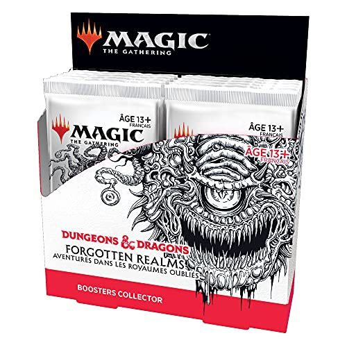 Magic: The Gathering- Boîte Collector Forgotten Realms : Aventures dans Les Royaumes Oubliés, 12 boosters