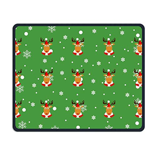 Merry Christmas Reindeer Snowflake Office Rectangle Non-Slip Rubber Mouse Pad Retro Gaming Mouse Pad for Laptop Displays Tablet Keyboard