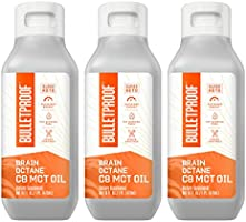 Brain Octane Premium C8 MCT Oil from Non-GMO Coconuts, 14g MCTs, 3 Pack 16 Fl Oz, Bulletproof Keto Supplement for...