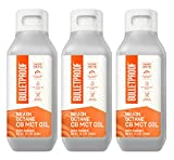 Brain Octane Premium C8 MCT Oil from Non-GMO Coconuts, 14g MCTs, 3 Pack 16 Fl Oz, Bulletproof Keto Supplement for Sustained Energy, Appetite Control, Mental & Physical Energy, Non-GMO, Vegan