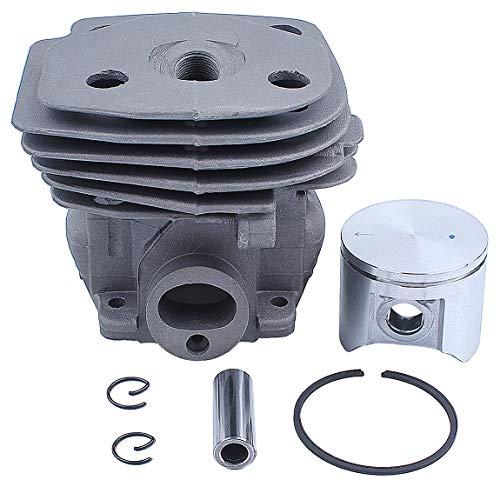 Haishine 47mm Zylinderkopfkolbensatz für Husqvarna 359 357 XP 357XP Kettensägemotor Motorteile 537 15 73-02