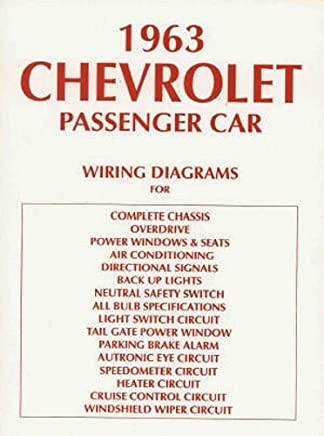 complete & unabridged 1963 chevrolet cars complete set of factory electrical  wiring diagrams & schematics guide