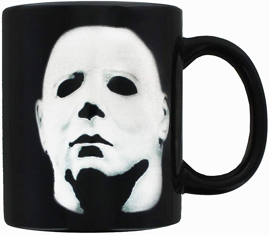 Michael Myers Halloween Horror Movie Coffee Mug Heat Changing Cup Reveals Micahel Myers Face Holds 11 Ounces