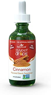 SweetLeaf Sweet Drops Liquid Stevia Sweetener, Cinnamon, 2 Ounce