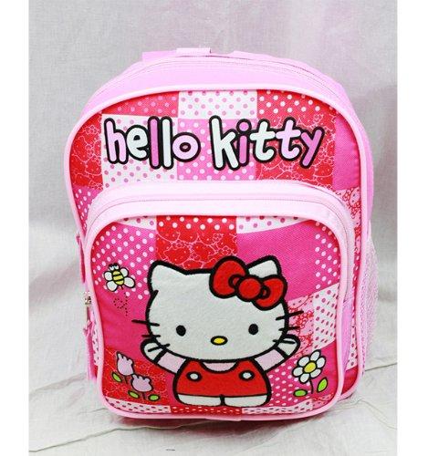 Hello Kitty Zaino, motivo floreale, colore: rosa con fiocco