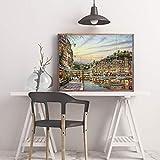adgkitb canvas 40x60cm SIN marcoRobert City Street View Decoración del hogar Pintura Moderna a1