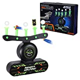 Electric Floating Target for Shooting, Glow in The Dark Target Game for Boys and Girls Ages 6-10, Nerf Target for Shooting Practice with 10 Floating Balls & 5 Knockdowm Targets