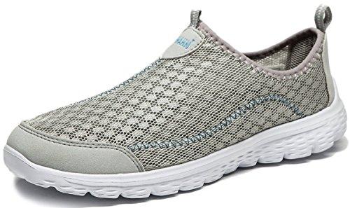 Vibdiv Slip on Chaussures pour Les Hommes Légères Maille(Gris 41 EU)