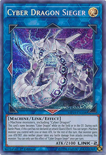 Yu-Gi-Oh! - Cyber Dragon Sieger - MP19-EN108 - Prismatic Secret Rare - 1st Edition - 2019 Gold Sarcophagus Tin Mega Pack