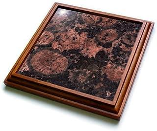 3dRose trv_97936_1 Baltic Brown Granite Print Trivet with Ceramic Tile, 8 by 8
