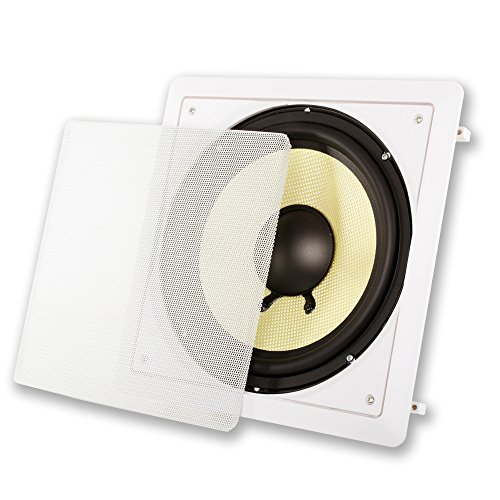 """Acoustic Audio HD-S10 Flush Mount Passive Subwoofer in Wall with 10"""" Speaker"""