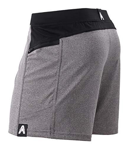 Anthem Athletics Hyperflex 5' Workout Training Gym Shorts - Heather Grey G2 - Medium
