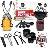 Penida Canning Kit - Canning Supplies Starter Kit - Canning Funnel, Magnetic Lid Lifter, Canning Tongs, Jar Lifter, bubble popper plus more canning tools, accessories, equipment. An ideal pickling kit
