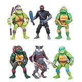 Ninja Turtles Toys, Ninja Turtles Action Figures Set TMNT Figures 6 Pcs Teenage Mutant Ninja Turtles Figures, Ninja Toys Tortues Figurines Anime Personnage Modèle Jouets Collection Anniversaire 4.7In