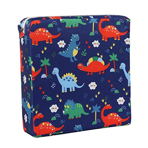 Nrpfell Children Increased Chair Pad Soft Adjustable Removable Baby Children Dining Cushion Chair Booster Cushion Pram Chair Pad Blue