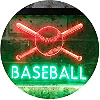 Baseball Club Illuminated Dual Color LED看板 ネオンプレート サイン 標識 緑色 + 赤色 600 x 400mm st6s64-i0580-gr