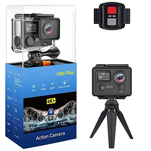 LOY Pantalla táctil de la cámara de acción Ultra HD 4K - 170 Lentes Gran Angular, cámara de Video para Deportes al Aire Libre con Grabador de conducción Impermeable 30M