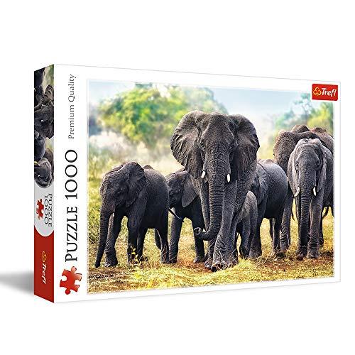 Trefl- Puzzle Elefanti Africani, TRF10442