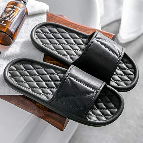 XZDNYDHGX Soft Foam Sole Pool Shoes House Home Slide,Men Platform Slippers Soft Indoor Slides, Non-Slip Summer Sandals Women Bathroom Shower Pink EU 37-38