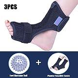 Plantar Fasciitis Dorsal Night Splint for Heel Pain Relief -Foot Drop Orthotic Brace