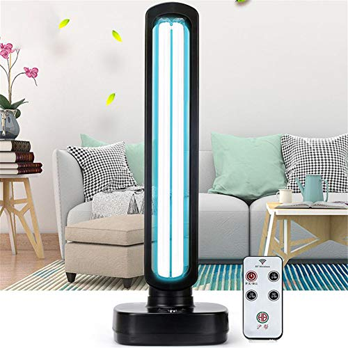 UVsterilisator Lamp, Quartz Ozone UVC Ultraviolette Portable Huishoudelijke Desktop LED-lamp met Timer Remote Control,38W