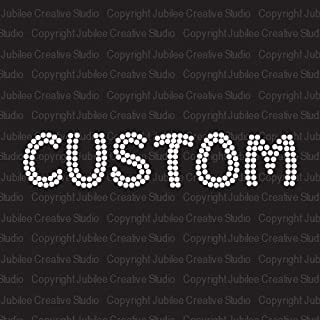 Clear Custom Word Iron On Rhinestone Crystal T-Shirt Transfer Funky Style Letters by Jubilee Rhinestones