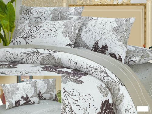 DaDa Bedding Super Soft Smooth 2-Piece Real Leaves Cotton Duvet Cover Set, Twin