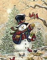 ダイヤモンドの絵画 5Ddiyダイヤモンドペインティングクロスステッチ「クリスマスシーナリー」家の装飾フルラインストーンインレイダイヤモンド刺繡
