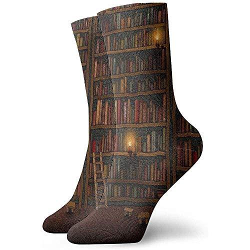 Dydan Tne Estantería Vintage Biblioteca Librería Novedad Crew Calcetines Calcetines Deportivos