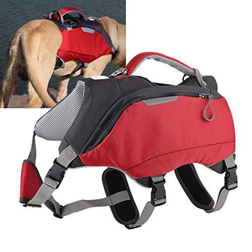 Mochila para Mascotas, Entrenamiento al Aire Libre Duradero 2 en 1 Alforjas Paquetes de Viaje para Perros medianos y Grandes(L)