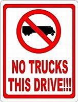 このドライブはトラックなし メタルポスタレトロなポスタ安全標識壁パネル ティンサイン注意看板壁掛けプレート警告サイン絵図ショップ食料品ショッピングモールパーキングバークラブカフェレストラントイレ公共の場ギフト