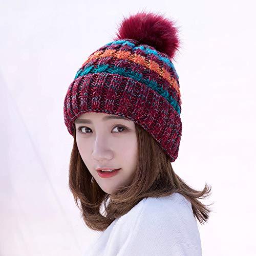 Xme Damenmützen für Herbst und Winter, Damenmützen aus Lockenwolle sowie warme Wollmützen aus Samt für den Außenbereich