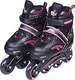 WOW New Sports ABEC 7 - Patines en línea (Talla Ajustable 35-38), Color Rosa