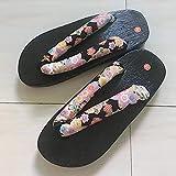 YYTIANYY Flip Flop Japonais Traditionnel Getta Sabots en Bois Unisexe Homme Femme Oriental Ethnique samouraï Kimono Sandales Plates Flip Flips-color2_36 Pantoufles en Bois (Color : Color8, Size : 43)
