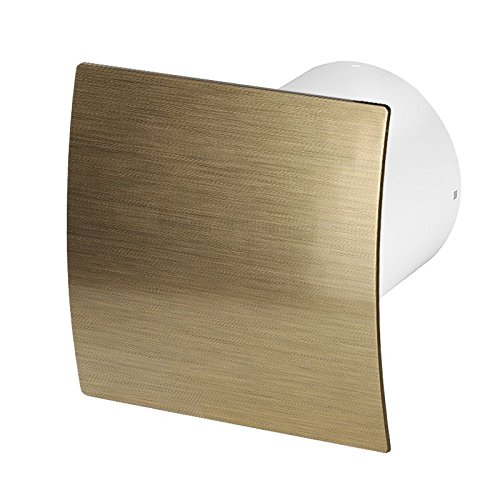 Badlüfter Wand-Ventilator Ø 100 mit Nachlauf , Kugellager Silent Escudo - Line System+ (gold gebürstet)