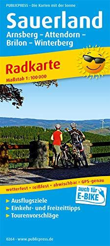 Sauerland, Arnsberg - Attendorn - Brilon - Winterberg: Radkarte mit Ausflugszielen, Einkehr- & Freizeittipps, wetterfest, reissfest, abwischbar, GPS-genau. 1:100000 (Radkarte / RK)