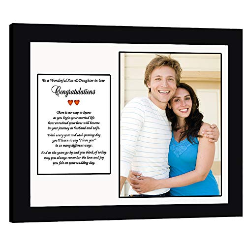 Wedding Gift for Son and Daughter-in-Law, Poem Card Frame, Add Photo