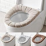 Asientos de inodoro, funda de asiento de inodoro cojín de baño suave y cálido lavable 3 piezas
