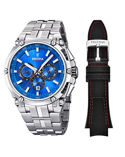 Festina Herren Chronograph Quarz Uhr mit Edelstahl Armband F20327/2