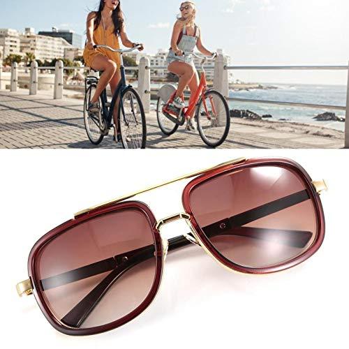 Gafas de sol punk Gafas de sol de moda Plástico + resina de calidad, para la familia, para la playa(Tea frame tea slices)