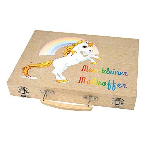 Malkoffer 'PAINT BOX 66' mit 11 Utensilien - 66-teiliges Malset für Schule und Co.: Der kompakte Malkasten im praktischen Holzkoffer!, Motiv:Motiv 07