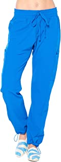 ANGEL UNIFORMS- Vicky 6-Pocket, Slim-Fit Stretch Scrub Pants with Elastic Waistband Medical