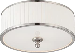 NUVO 60/4741 Three Light Flush Mount, Pwt, Nckl, B/S, Slvr