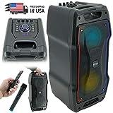 EMB PKL1700 800 Watt Karaoke Rechargeable Portable Speaker w/Mic, USB, SD,...
