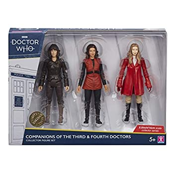 """Doctor Who Companions of The 3rd and 4th Doctors Set B - Includes Sarah Jane Smith Romana 1 & Romana 2 Action Figures - Classic Dr Who Merchandise - Character Options - 5.5"""""""