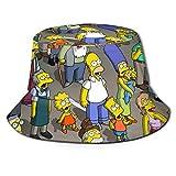 Sombrero de Pescador Simpsons Sombrero para el Sol - Protección Ultravioleta y Transpirable Gorra de Cubo de ala Ancha para exteriores-48H