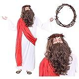 I LOVE FANCY DRESS LTD Disfraz DE Cristo para Adulto Conjunto TEMATICO para Adulto con Tunica Longa,...