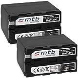 2X Batería Compatible con NP-F960 F970 [6600 mAh] para Sony videocámaras - Neewer LED luz de vídeo - ATOMOS Shogun, Ninja… y mas - Ver Lista de compatibilidad