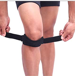 SING F LTD Knee Strap Compatible with Running Fitness Stairs Climbing//Adjustable Patellar Tendon Support Band Compatible with Basketball