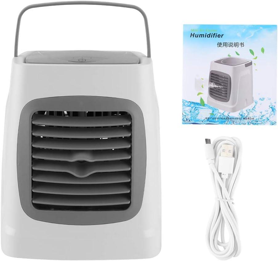 01 Enfriador de Aire, Ventilador del Enfriador de Aire, multifunción para Oficina en casa(Classic Grey, Insect)
